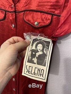 Vintage Selena Boutique Dress Red Button Up Size 7/8