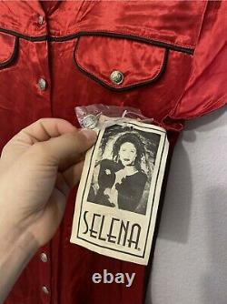Vintage Selena Quintanilla Boutique Dress Red Button Up Size 7/8 NWT