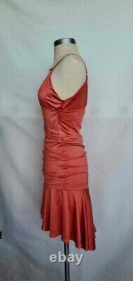 Vintage Sexy Plein Sud Red Silk Draped Dress Size S