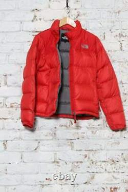 Vintage The North Face Puffer Embroidered Logo down Jacket Red