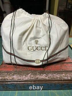 Vintage gucci handbag authentic Canvas Red Green Stripe Beige & duster excellent