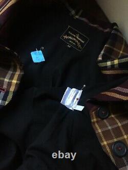 Vivienne Westwood Anglomania Red Black Mustard Tartan Check Jacket 44 UK12