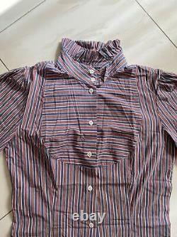 Vivienne Westwood Anglomania vintage shirt red & blue stripes size 42 (UK 8 10)