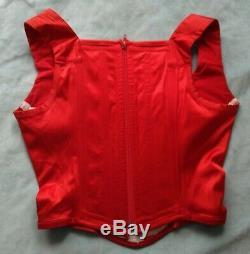 Vivienne Westwood vintage red satin orb corset 42
