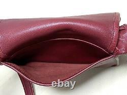 Vtg Coach Rambler 9061 Currant Leather Crossbody Shoulder Bag