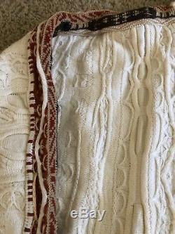 Vtg Coogi White Maroon Hood Men's Women's Sweater Pants Matching Set Unisex XL