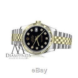 Women's Rolex 26mm Datejust Black Diamond Accent Dial Jubilee