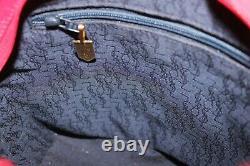 Yves Saint Laurent Vintage Red Leather Shoulder Crossbody Bag