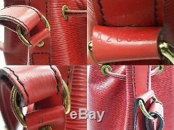 100% Auth Louis Vuitton Petit Noe Sac À Cordonnet Épaule Epi Rouge M40839 Vintage