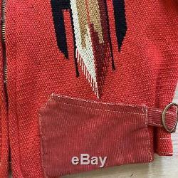1930 1940 Vtg Vintage Rouge Noir Chimayo Cuorderoy Femmes Veste Sud-ouest
