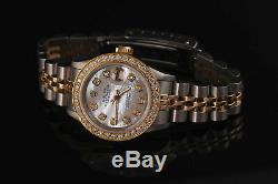 2 Tone Rolex De 26mm Femmes Datejust Blanc Mop Cadran En Nacre Avec Diamant