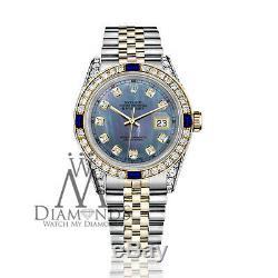 26mm Rolex Datejust Tahiti Mop Cadran Avec Sapphire & Diamond Bezel