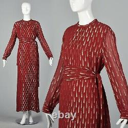 Adele Simpson Élégante Soirée Gown Romantique Robe Forme Loose Flowy Bohemian