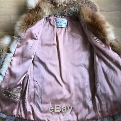 Anastasia Fourrures Réel Red Fox Manteau De Fourrure Vintage Vtg Euc