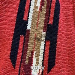 Années 1930 1940 Vtg Vintage Rouge Noir Chimayo Cuorderoy Veste Femme Sud-ouest