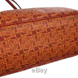 Auth Celine Transport Cheval Épaule Sac Fourre-tout Pvc Rouge En Cuir Vintage Bt15575h