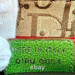 Auth Christian Dior Trotter Sac À Main En Selle Rasta Color Vintage Du Japon