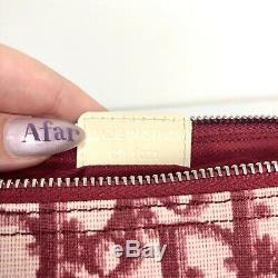 Auth Christian Dior Trotter Selle Sac À Main Blanc Rouge Pvc Vintage En Provenance Du Japon