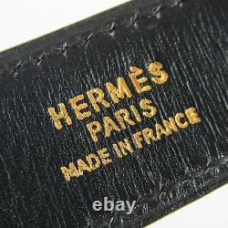 Auth Hermes Vintage Constance Box Calf Ceinture En Cuir Sz 76 Bordeaux 18350bkac