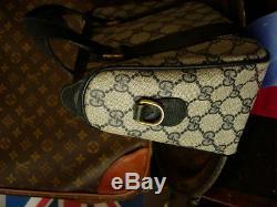 Auth Vintage Gucci Marine Gg Speedy Avec Sac Fourre-tout Rouge Web Marine Bourse Sac À Main Gg