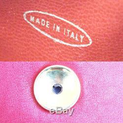 Authentique Chanel CC Logo Chaîne Sac Bum Ceinture En Cuir Rouge Italie Vintage 99et293