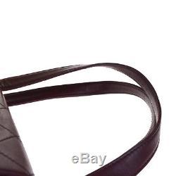 Authentique Chanel CC Logos Matelassée Sac À Bandoulière En Cuir Bordeaux Vintage 74em548