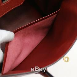 Authentique Hermes Birkin 35 Sac À Main Bourgogne Chevre Myzore Vintage Ghw Rk13571f