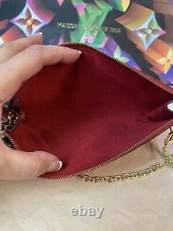 Authentique Louis Vuitton Red Epi Pochette Yus Seller