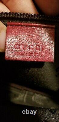 Authentique Sac Crossbody En Cuir Rouge Gucci Guccisima Vintage