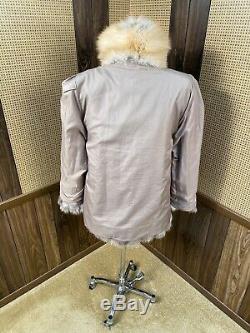 Belle Île D'or Vintage Red Fox Fur Coat Veste Poussette Petit 4 6