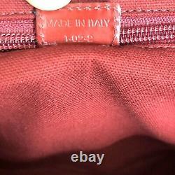 Burberry Authentic Vintage 90s Denim Brodé Sac Sac Sac À Main Rouge Bleu Rare