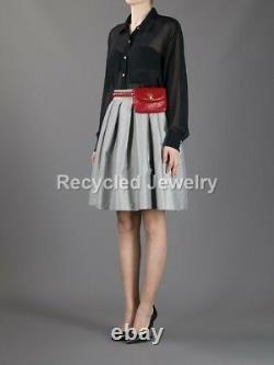 Chanel CC Logo Ceinture Rouge Ceinture Sac Sac Sac Sac À Main Sac À Main S'adapte 30 27