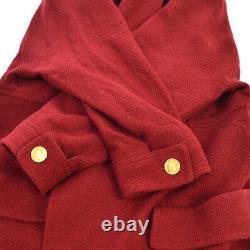 Chanel CC Logos Veste À Manches Longues Red Vintage #38 Authentic Ak37998f
