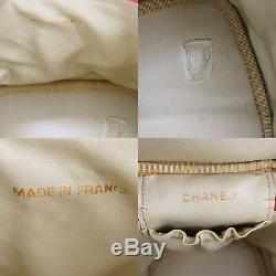 Chanel CC Vanity Cosmétiques Sac Caviar Peau En Cuir Rouge Vintage Authentique # Z621 I