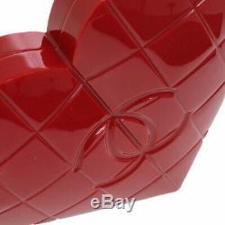 Chanel Choco Bar Heart Shaped CC Embrayage Party Sac En Plastique Rouge Vtg Gs01987c