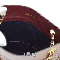 Chanel Matelassée CC Chaîne Épaule Sac Fourre-tout En Cuir Bourse Bordeaux Vintage Jt08775