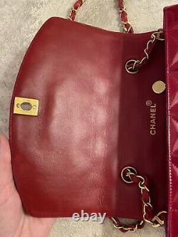 Chanel Vintage Cherry Rouge Diana Flap Sac