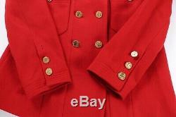 Chanel Vintage Red Tweed Jupe Veste Costume CC Logo Doublé Boutons D'or Sz 44