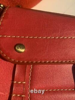 Christian Dior Authentic Vintage Diorissimo Mini Sac En Cuir Épaule Sac Rouge