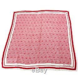 Christian Dior Honey Combo Foulard En Soie Wraps Rouge Blanc Vintage Authentique # Aa523 M