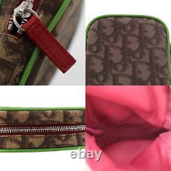 Christian Dior Trotter Petite Pochette En Cuir Brun Pvc Authentique # Zz208 I