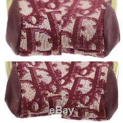 Christian Dior Trotter Porte-monnaie Mini Portefeuille Toile Rouge Vintage Auth # Mm126 Y