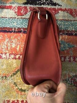 Coach Red Leather Vintage City Bag Purse Pour Le Corps De L'épaule #9790 Serrure De Nickel