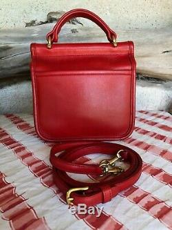 Coach Vintage Mini Willis Winnie À Red # 9023 Mint Condition (made In Usa)