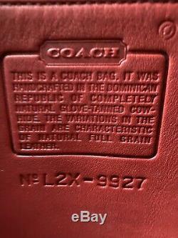 Coach Willis Vintage Red Brass Sac Besace À Bandoulière Épaule 9927