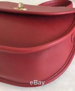 Cour Entraîneur Vintage Bella Rouge Convertir Poignée Sac À Bandoulière Purse Rare! Euc