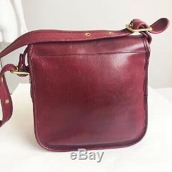 Courrier Vintage Coach Pochette 8920 Bonnie Cashin Sac Bourgogne Nyc Rare