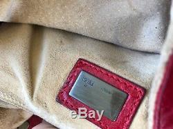 Cuir Vintage Rouge Fendi Baguette / Bracelets Interchangeables Crossbody! Rare