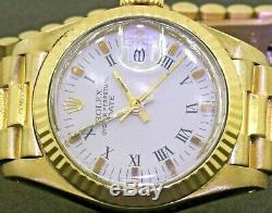 Date Rolex Présidentielle 6917 Dames Automatique En Or 18k À Cadran