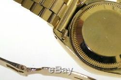 Date Rolex Présidentielle 6917 Dames Automatique En Or 18k Montre Avec Cadran En Bois Rare